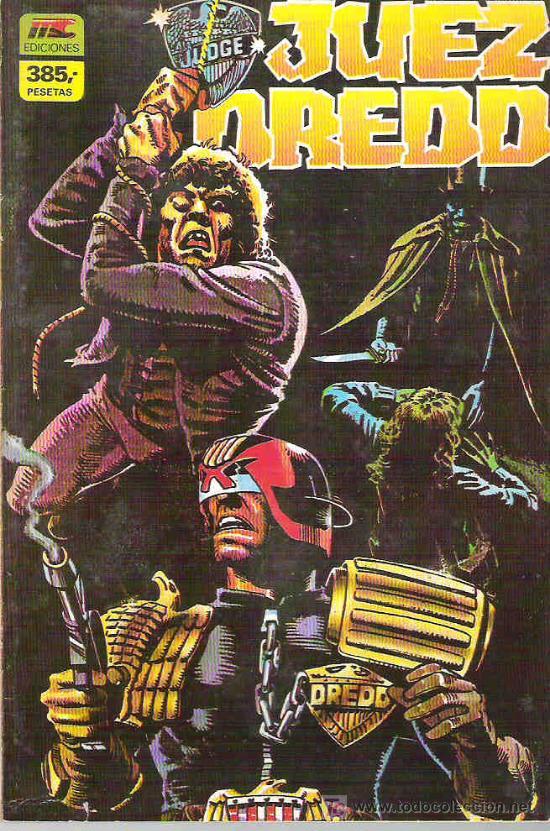 JUEZ DREDD - RETAPADO 4 NUMS DEL 13 AL 16 ** 1986 (Tebeos y Comics - Zinco - Retapados)