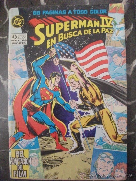 SUPERMAN IV EN BUSCA DE LA PAZ FIEL ADAPTACION DEL FILM EDICIONES ZINCO (Tebeos y Comics - Zinco - Superman)