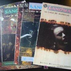 Cómics: LOTE SANDMAN Nº 3 AL 7 NEIL GAIMAN LA CASA DE MUÑECAS ZINCO. TAMBIEN SUELTOS........C9. Lote 21043040