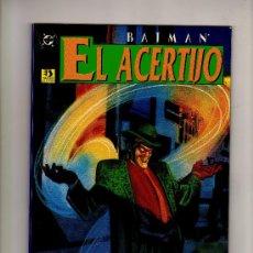 Comics: BATMAN EL ACERTIJO - LA FÁBRICA DE ACERTIJOS - GUIÓN: MATT WAGNER · ILUSTRACIONES: DAVE TAYLOR. Lote 22850723