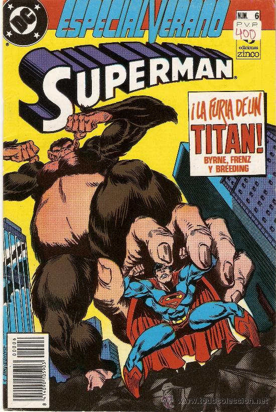 COMIC SUPERMAN, ESPECIAL VERANO, Nº 6 - LA FURIA DE UN TITAN - ED. ZINCO . (Tebeos y Comics - Zinco - Superman)