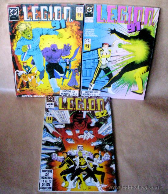 LEGION 91 92 – COMPLETA 15 NÚMEROS EN 3 TOMOS – ED ZINCO AÑO 1991 (Tebeos y Comics - Zinco - Legión 91)