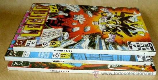 Cómics: LEGION 91 92 – 1 2 3 4 5 6 7 8 9 10 11 12 13 14 15 (en 3 tomos) COMPLETA – Ed ZINCO año 1991 - Foto 2 - 26918589
