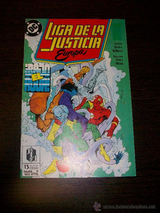 LIGA DE LA JUSTICIA EUROPA Nº 2 - DC - EDICIONES ZINCO - (Tebeos y Comics - Zinco - Liga de la Justicia)