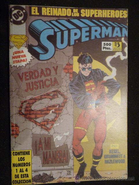 SUPERMAN. EL REINADO DE LOS SUPERHEROES. TOMO 1 AL 4. ZINCO (Tebeos y Comics - Zinco - Superman)