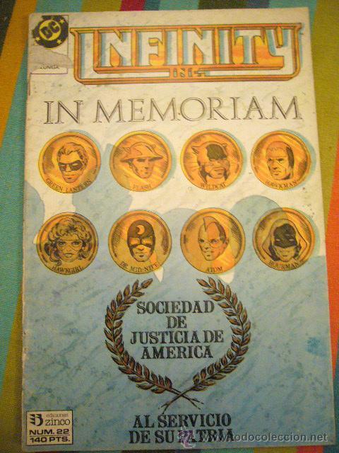 INFINITY INC Nº 22 1986 ZINCO ROY THOMAS & MCFARLANE .....C14 (Tebeos y Comics - Zinco - Infinity Inc)