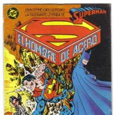 Comics : LA FASCINANTE LEYENDA DE SUPERMAN, EL HOMBRE DE ACERO, Nº3. JHON BYRNE, DICK GIORDANO. DC. ZINCO.. Lote 26628487