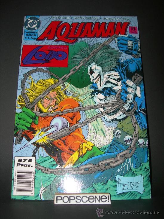 COMIC TOMO AQUAMAN CONTRA LOBO - PETER DAVID / MARTIN EGELAND - GEORGE PEREZ - ZINCO (Tebeos y Comics - Zinco - Prestiges y Tomos)