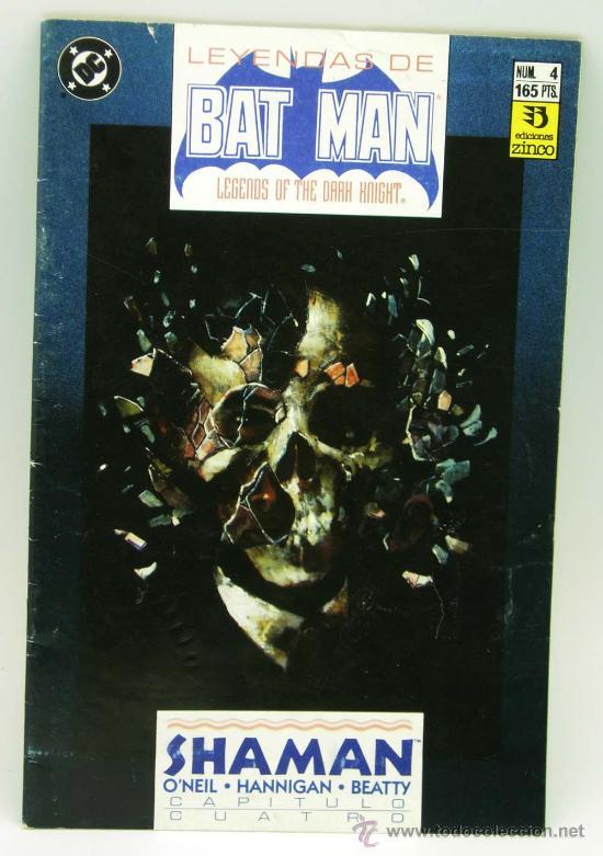 LEYENDAS DE BATMAN Nº 4 ED ZINCO 1990 (Tebeos y Comics - Zinco - Batman)