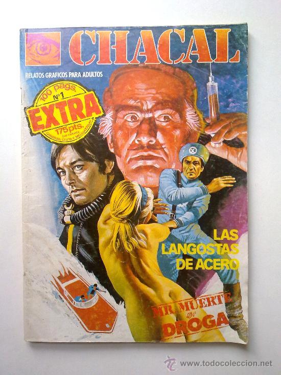 CHACAL, Nº 1, 100 PAGINAS EXTRA, LAS LANGOSTAS DE ACERO Y MR.MUERTE EN DROGA, EDI.ZINCO 1983 (Tebeos y Comics - Zinco - Otros)