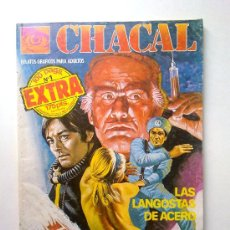 Cómics: CHACAL, Nº 1, 100 PAGINAS EXTRA, LAS LANGOSTAS DE ACERO Y MR.MUERTE EN DROGA, EDI.ZINCO 1983. Lote 28351134