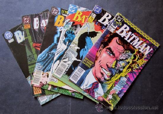 LOTE 6 COMICS BATMAN - EDICONES ZINCO (Tebeos y Comics - Zinco - Batman)