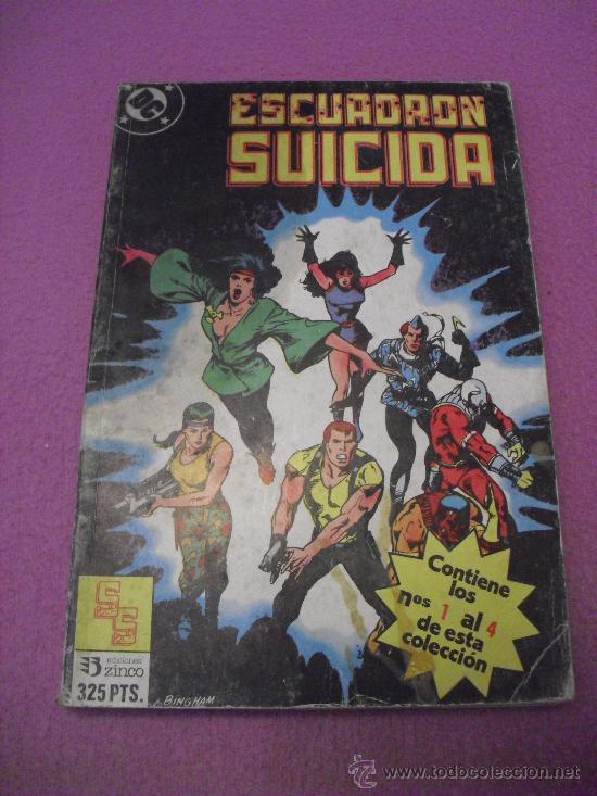 ESCUADRON SUICIDA - Nº 1 AL 4 ** RETAPADO ** EDICIONES ZINCO - AÑO 1988 (Tebeos y Comics - Zinco - Retapados)