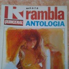Cómics: RAMBLA ANTOLOGÍA Nº 5,6,7 Y 8. Lote 30006951