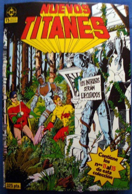 EDICIONES ZINCO NUEVOS TITANES 1985-1987 VOLUMEN 3 CON LOS NÚMEROS 11 AL 15 INCLUSIVE NUEVO (Tebeos y Comics - Zinco - Retapados)
