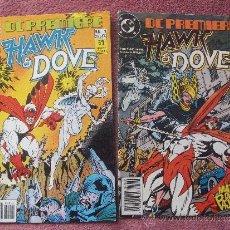 Cómics: DC PREMIERE NºS 1 Y 2 HAWK Y DOVE EDICIONES ZINCO. Lote 30776114