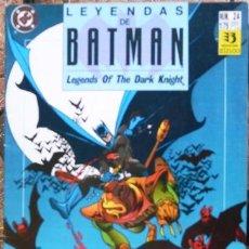 LEYENDAS DE BATMAN # 24 - 1991 - VOLADOR - ZINCO - 34 PAG - POR CHAYKIN & KANE - JOYA DE COLECCION
