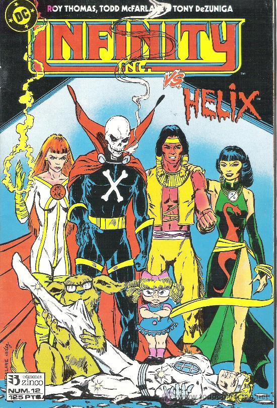 1 COMIC AÑO 1986 - Nº 12 - INFINITY INC US HELIX - ( EDITA ZINCO EDICIONES ) (Tebeos y Comics - Zinco - Infinity Inc)