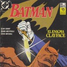 Cómics: BATMAN Nº 1. EL ENIGMA CLAYFACE. ZINCO.. Lote 32603319