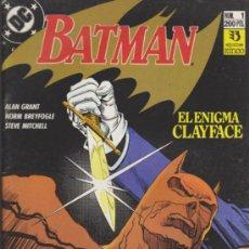 Cómics: BATMAN Nº 1. EL ENIGMA CLAYFACE. ZINCO.. Lote 32603338
