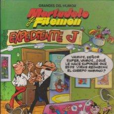 Cómics: GRANDES DEL HUMOR Nº 1.MORTADELO Y FILEMÓN. EXPEDIENTE J. TAPAS DURAS.. Lote 32874683