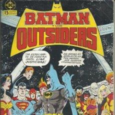 Cómics: BATMAN Y LOS OUTSIDERS RETAPADO ( ZINCO ) ORIGINALES 1988 LOTE. Lote 33044127