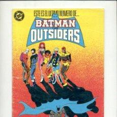 Cómics: BATMAN OUTSIDERS 24 ZINCO DC. Lote 33666367