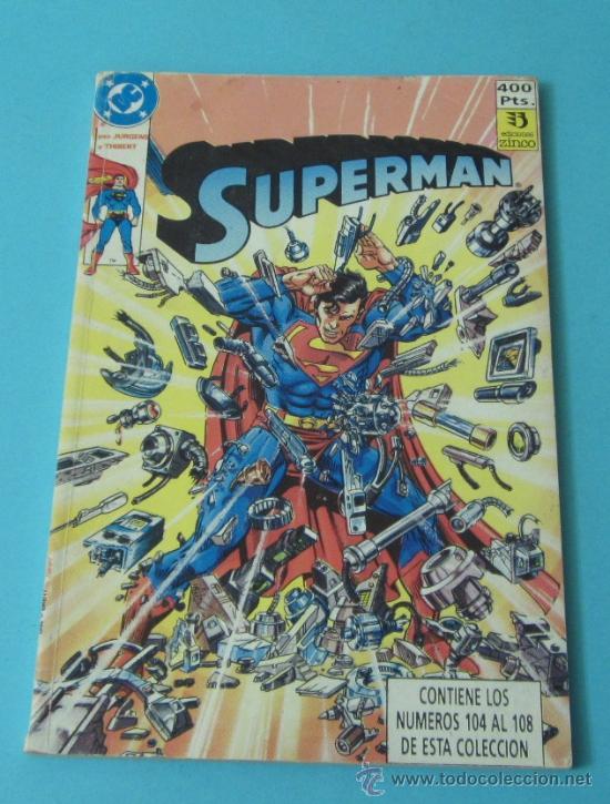 SUPERMAN. EDICIONES ZINCO. TOMO ENCUADERNADO CON Nº 104, 105, 106, 107 Y CUBIERTAS DEL 108 (Tebeos y Comics - Zinco - Superman)