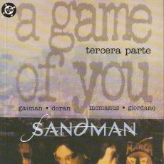 Cómics: SANDMAN - UN JUEGO DE TI 3 (A GAME OF YOU) (NEIL GAIMAN). Lote 34623336