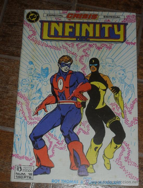 INFINITY INC Nº 18. ESPECIAL CRISIS DC COMICS. ZINCO ROY THOMAS TODD MCFARLANE (Tebeos y Comics - Zinco - Infinity Inc)
