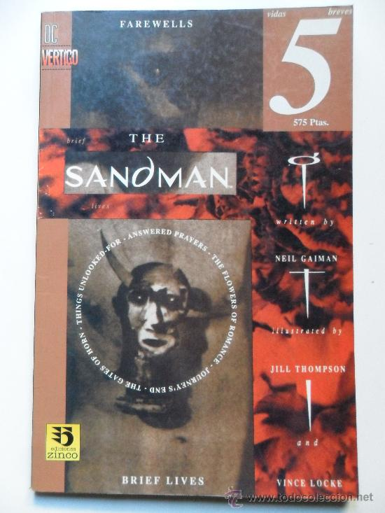 THE SANDMAN VIDAS BREVES PARTE 5 . NEIL GAIMAN . JILL THOMPSON . VINCE LOCKE (Tebeos y Comics - Zinco - Prestiges y Tomos)