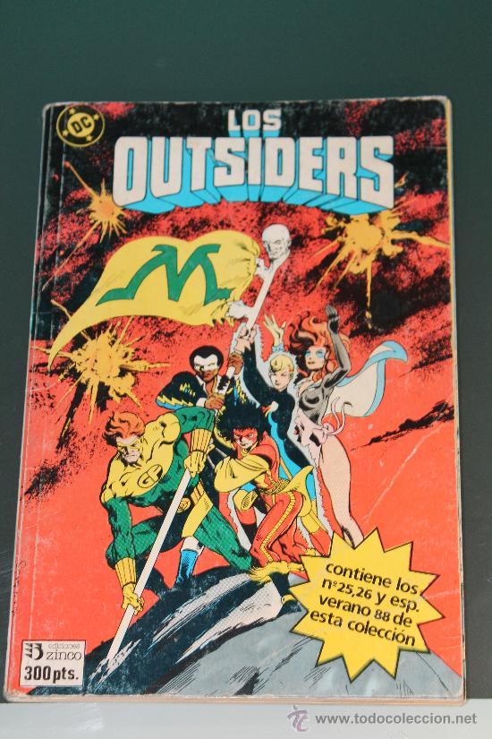 TOMO RETAPADO DE LOS OUTSIDERS 25 - 26 Y ESPECIAL VERANO 88 ZINCO (Tebeos y Comics - Zinco - Retapados)