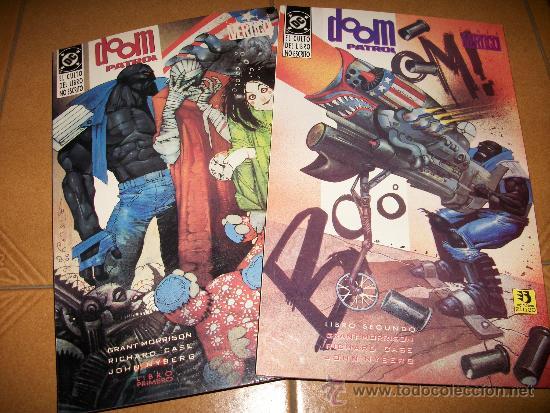 LOTE 2 COMICS DOOM PATROL – DC – EL CULTO DEL LIBRO NO ESCRITO – VERTIGO – COMPLETA – GRANT MORRISON (Tebeos y Comics - Zinco - Patrulla Condenada)