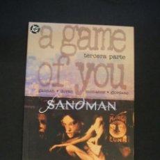 Cómics: SANDMAN - A GAME OF YOU - TERCERA PARTE - NEIL GAIMAN - ZINCO - EXCELENTE ESTADO - . Lote 36932064