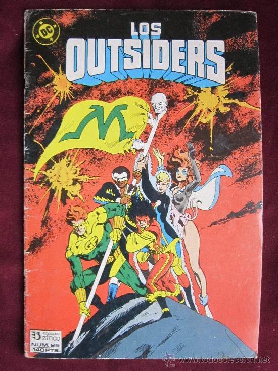 LOS OUTSIDERS Nº 25. ALAN DAVIS. EDICIONES ZINCO. DC COMICS 1986 (Tebeos y Comics - Zinco - Outsider)