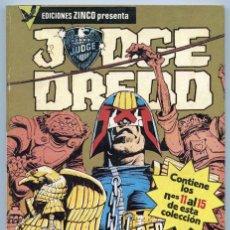 Cómics: JUDGE DREDD - RETAPADO - TOMO 3 - NºS 11 AL 15 - ED. ZINCO - 1987. Lote 139340400