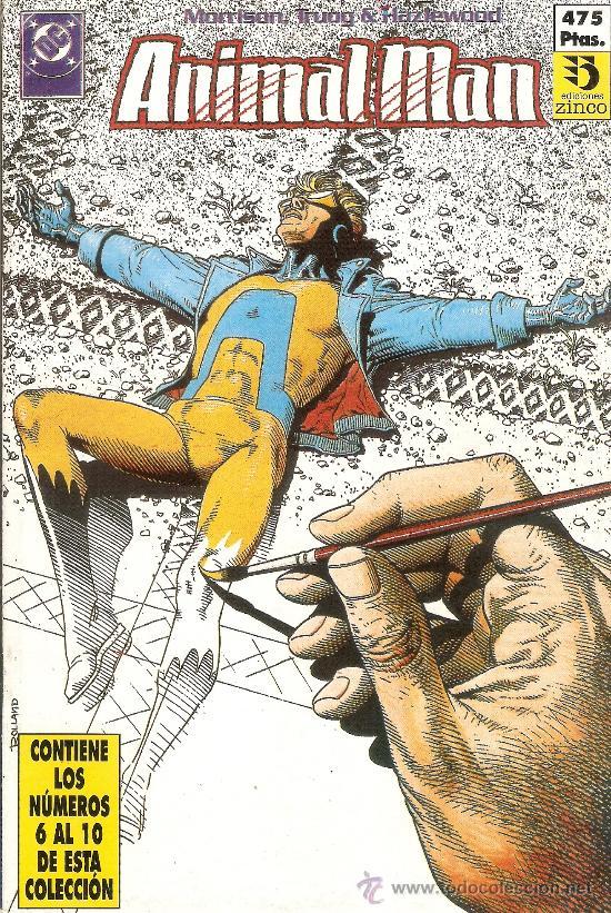 ANIMAL MAN - RETAPADO 6 AL 10 - EDICIONES ZINCO - DC - 1989 (Tebeos y Comics - Zinco - Retapados)