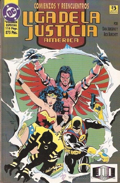 LIGA DE LA JUSTICIA: COMIENZOS Y REENCUENTROS. TOMO (Tebeos y Comics - Zinco - Liga de la Justicia)