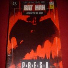 Cómics: ZINCO DC LEYENDAS DE BATMAN NUMERO 11. Lote 39757954