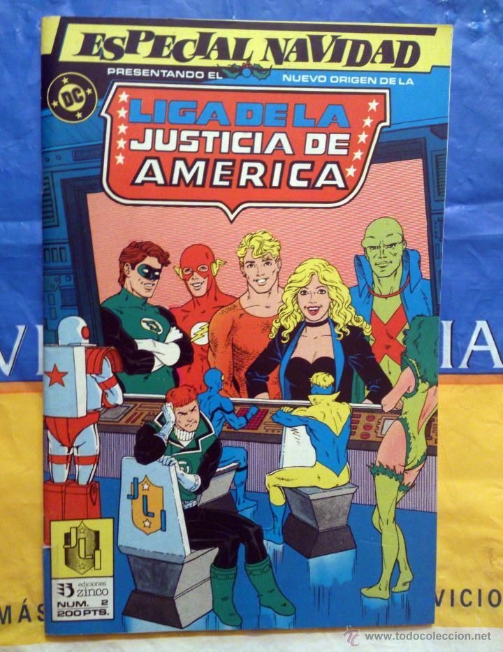 LIGA DE LA JUSTICIA ESPECIAL # 2 NAVIDAD (ZINCO) (Tebeos y Comics - Zinco - Liga de la Justicia)