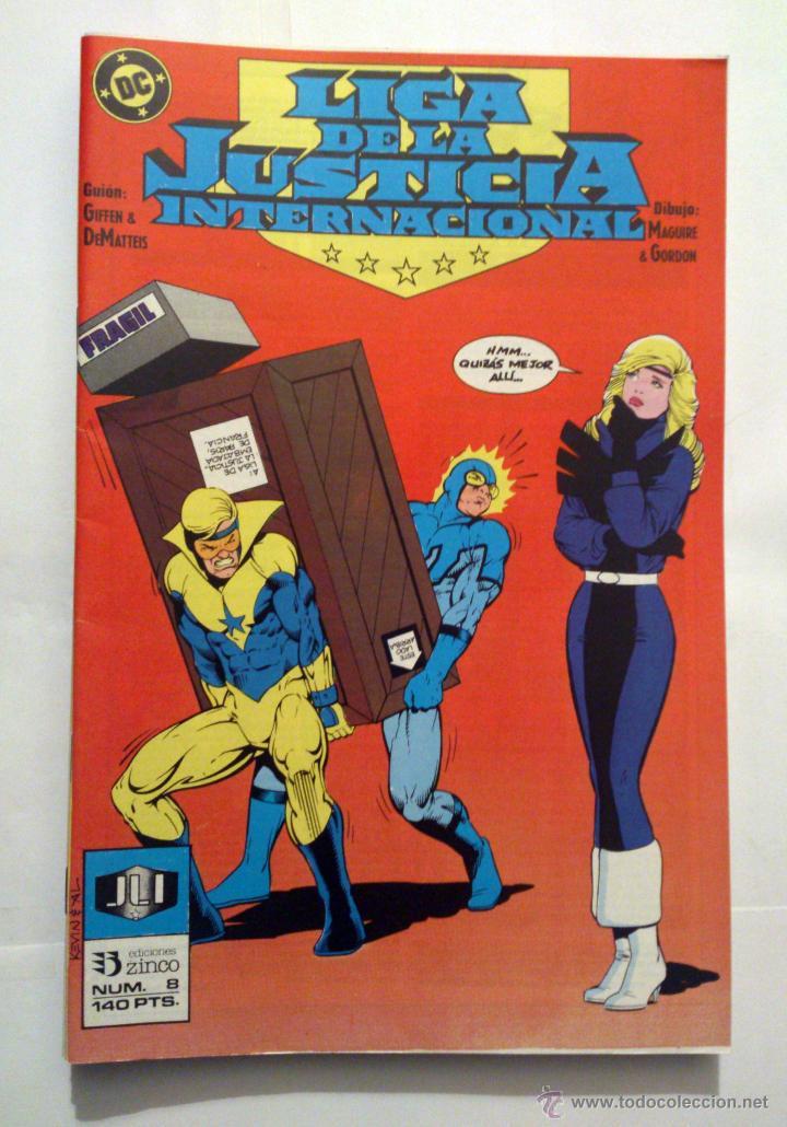 LIGA DE LA JUSTICIA INTERNACIONAL VOL. 1 # 8 (ZINCO) - 1988 (Tebeos y Comics - Zinco - Liga de la Justicia)