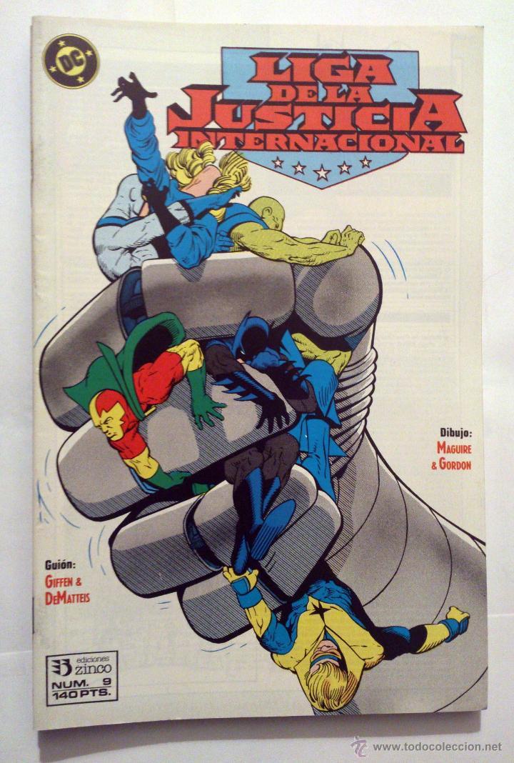 LIGA DE LA JUSTICIA INTERNACIONAL VOL. 1 # 9 (ZINCO) – 1989 (Tebeos y Comics - Zinco - Liga de la Justicia)
