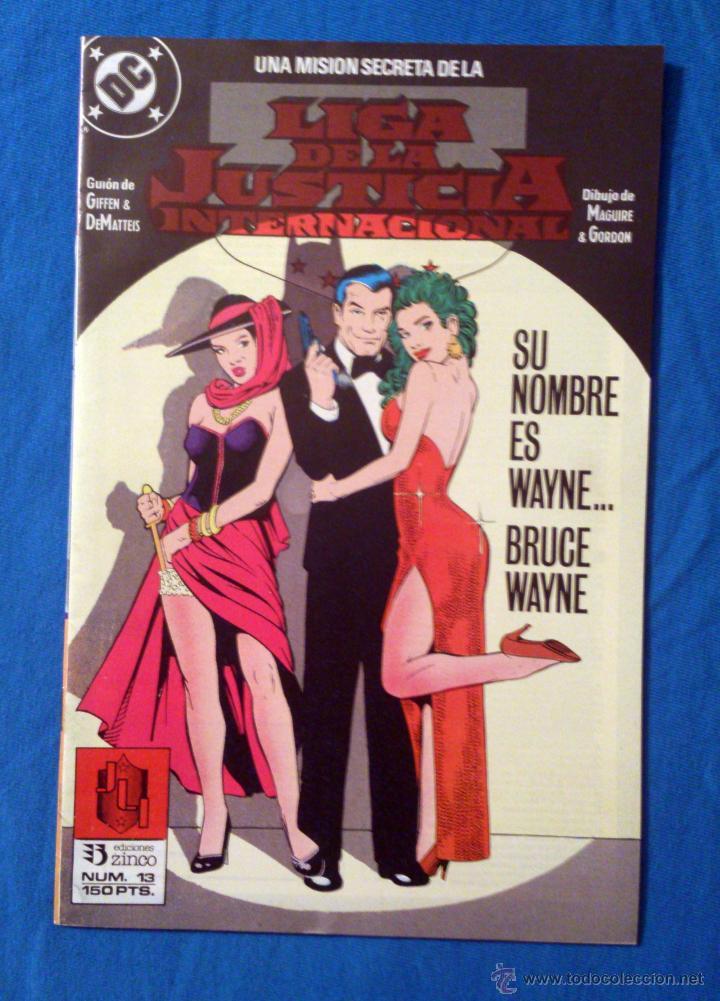 LIGA DE LA JUSTICIA INTERNACIONAL VOL. 1 # 13 (ZINCO) – 1989 (Tebeos y Comics - Zinco - Liga de la Justicia)