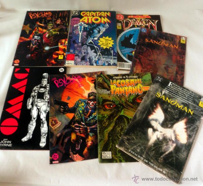 LOTE DE 8 COMICS VARIADOS DC CINCO * LA COSA DEL PANTANO * SANDOMAN * DEMON * OMAC * THE PSYCHO (Tebeos y Comics - Zinco - Otros)
