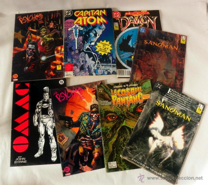 Cómics: LOTE DE 8 COMICS VARIADOS DC CINCO * LA COSA DEL PANTANO * SANDOMAN * DEMON * OMAC * THE PSYCHO - Foto 2 - 39827555