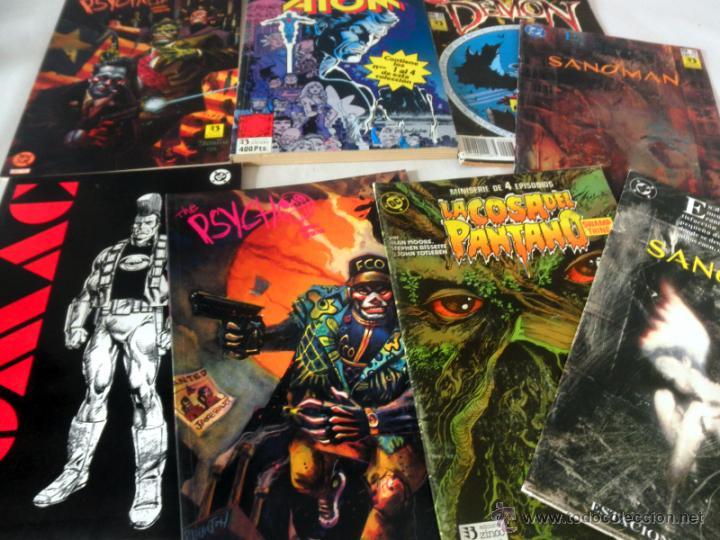 Cómics: LOTE DE 8 COMICS VARIADOS DC CINCO * LA COSA DEL PANTANO * SANDOMAN * DEMON * OMAC * THE PSYCHO - Foto 3 - 39827555