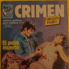 Cómics: CRIMEN - EL PESO MUERTO - MERCADERES DE CARNE 3A. ED.1984.. Lote 39889361