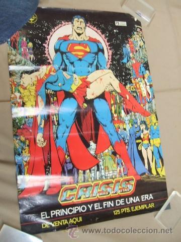 POSTER - SUPERMAN CRISIS INFINITA - EL PRINCIPIO Y EL FIN DE UNA ERA - APROX. 67CM X 45,5CM - ZINCO (Tebeos y Comics - Zinco - Otros)