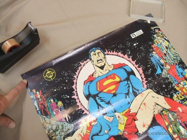 Cómics: POSTER - SUPERMAN CRISIS INFINITA - EL PRINCIPIO Y EL FIN DE UNA ERA - APROX. 67CM X 45,5CM - ZINCO - Foto 2 - 39984230