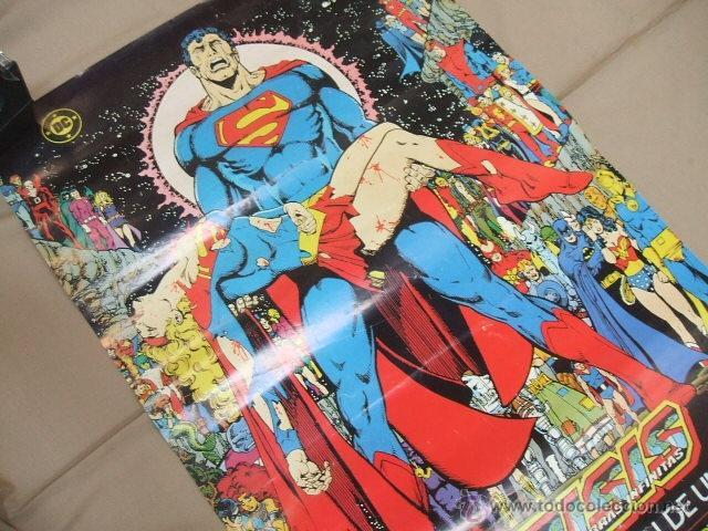 Cómics: POSTER - SUPERMAN CRISIS INFINITA - EL PRINCIPIO Y EL FIN DE UNA ERA - APROX. 67CM X 45,5CM - ZINCO - Foto 4 - 39984230
